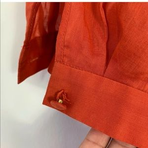 Anthropologie Tops - Anthropologie Maeve Red Blouse Size 2